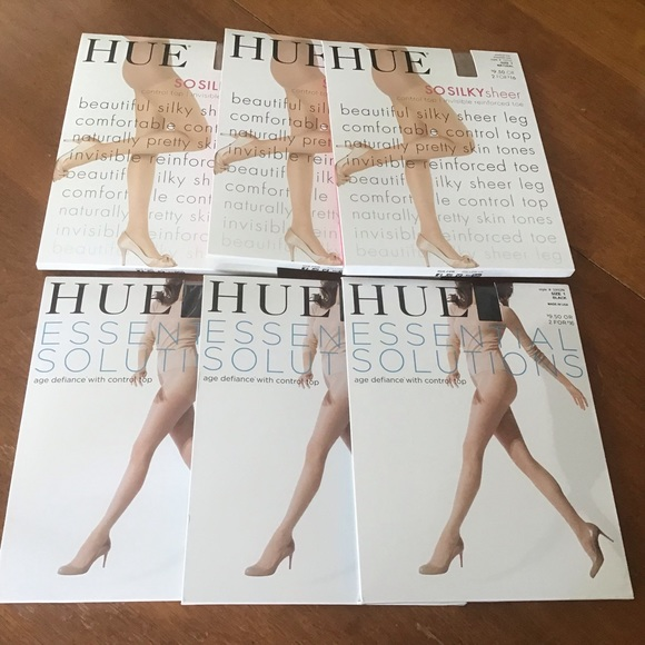 Women/'s HUE Essential Solutions Age Defiance Control Top Pantyhose Hosiery